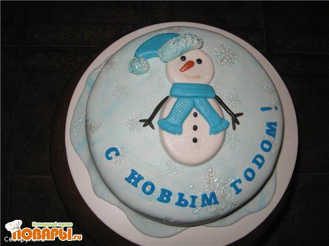 Оформление тортов из мастики на новый год фото